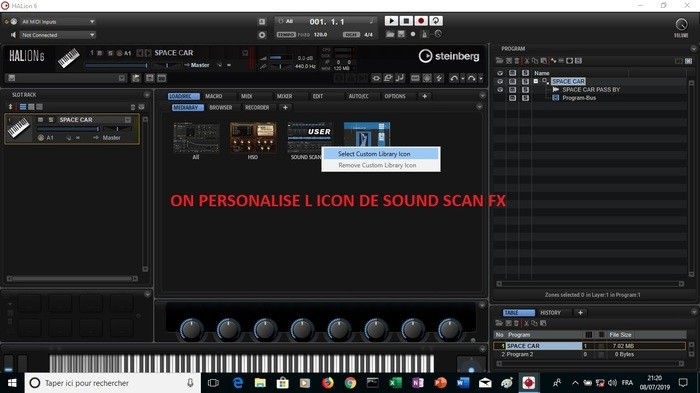 Steinberg HALion 6 : image 30 ON PERSONALISE L ICON DE SOUND SCAN FX