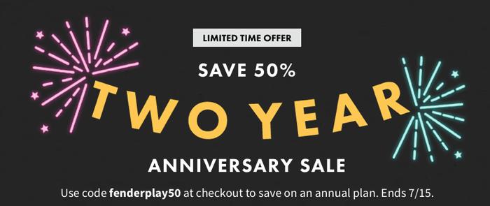 Fender Play Anniversary Sale