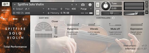 Solo Violin GUI