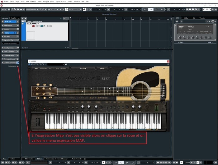Steinberg Cubase Pro 10 : 1 configurer le menu Expression Map