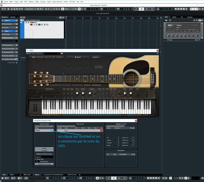 Steinberg Cubase : 5 on renomme l expression Map
