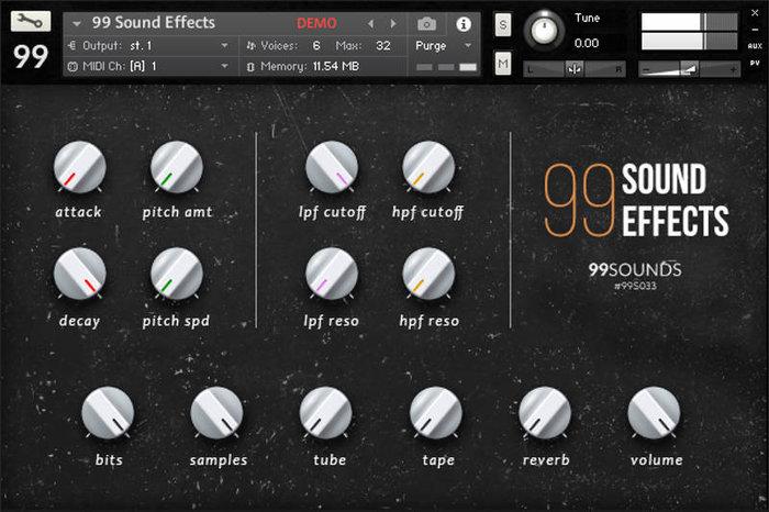 99 Sounds GUI