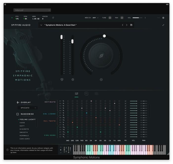 Symphonic Motions GUI