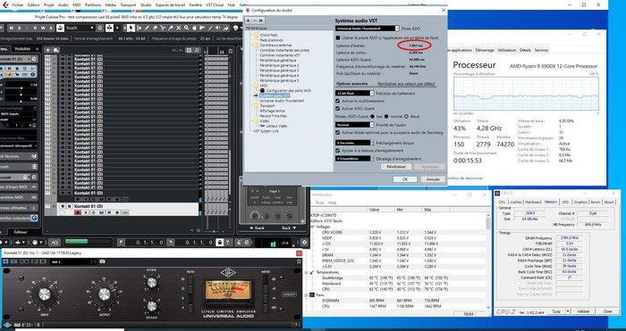 88 PISTES UAD 3600MHZ R9 OC 4.3 TH3 256 SMPLE TEMPERATURE 79 DEGRES