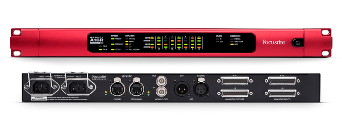 Focusrite RedNet A16R MkII : a16rmk2-front-rear