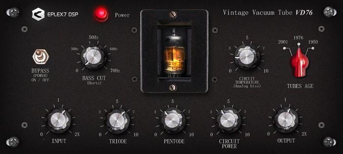 Eplex7-Vintage-vacuum-tube-VD76-plugin