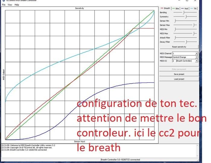 ici on choisit le canal et surtout le cc qui corespond à la commande voulue... ici le breath contrrol cc2