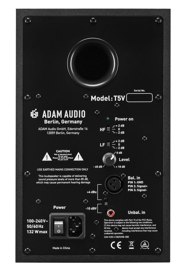 adam audio t5v Rear