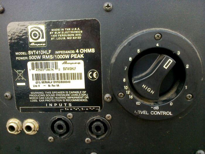 Ampeg SVT-410HLF diuzbass images
