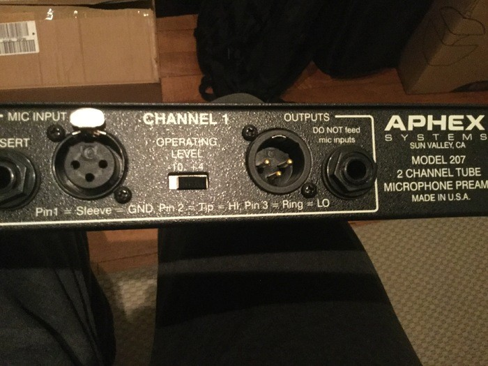 Aphex 207 Two Channel Tube Mic Preamplifier (8519)