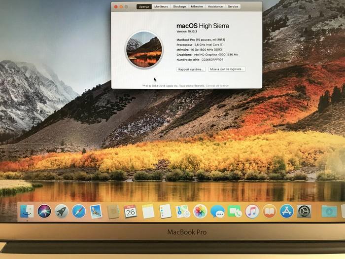 Apple MacBook Pro (15 pouces, mi-2012) (19803)