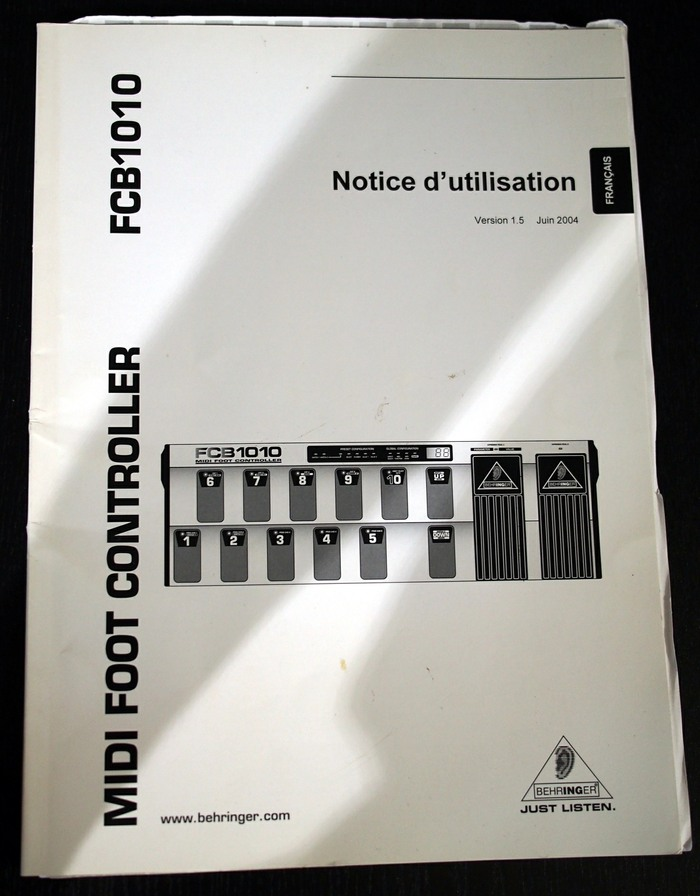 behringer fcb1010 midi foot controller manual