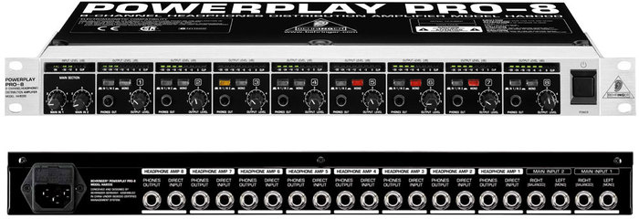 Behringer Powerplay Pro-8 HA8000 Dmonweb images