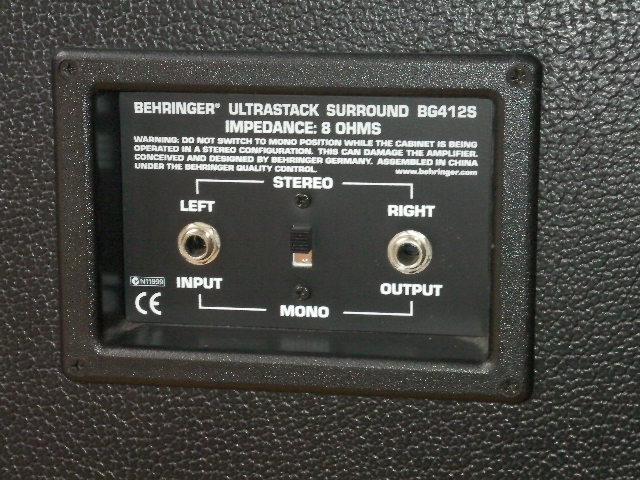 behringer ultrastack bg412s image 234085 audiofanzine. Black Bedroom Furniture Sets. Home Design Ideas