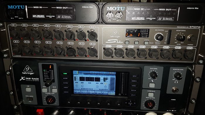 Photo behringer x32 rack 20170601 084941 1804463 audiofanzine - Console numerique behringer ...