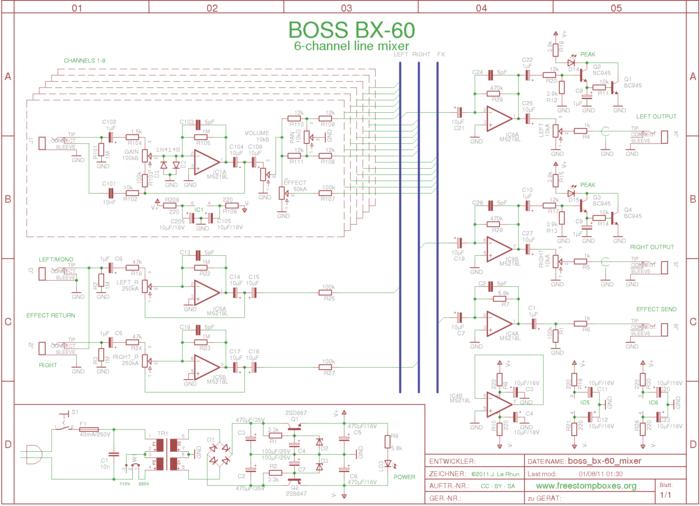 Boss BX-60 Schematic