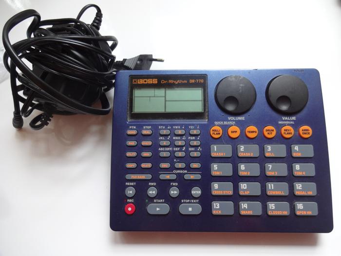 boss dr 770 drum machine manual