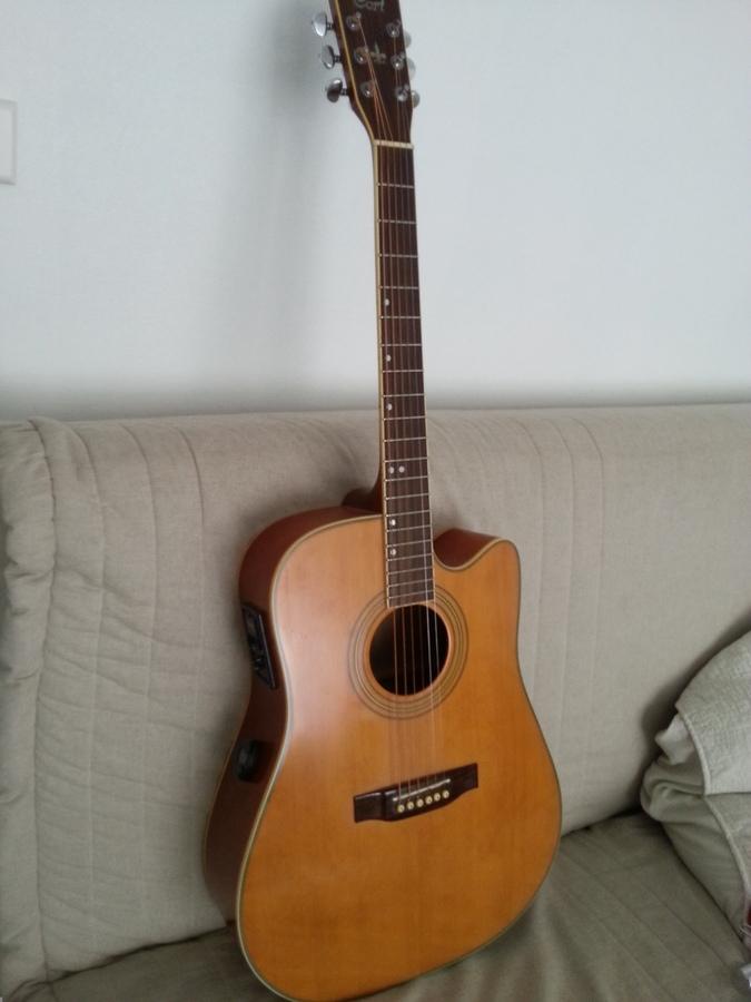 Guitare electro acoustique cort 10 jeux de cordes for Housse guitare acoustique