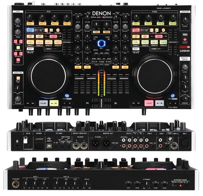 Contr leur dj 4 voix avec carte son int gr e denon dj dn - Table de mixage avec carte son integree ...