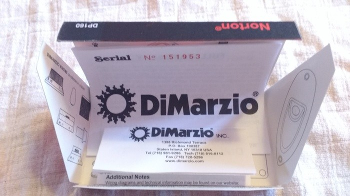 DiMarzio DP160F Norton F-Spaced (6208)