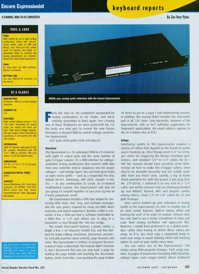 Photo Encore Electronics The Expressionist de liquidwatch