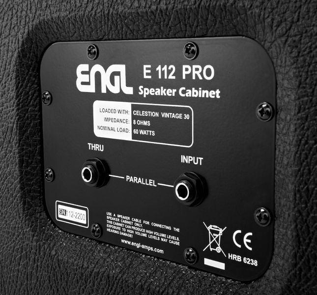 ENGL E112VB Pro Straight 1x12 Cabinet (39259)