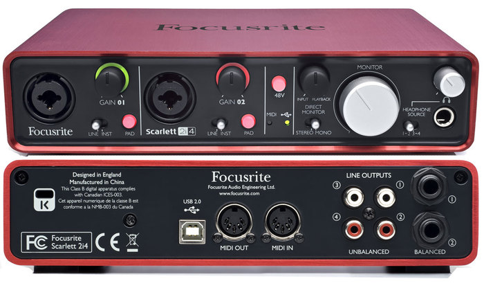 Focusrite Scarlett 2i4 past'houl images