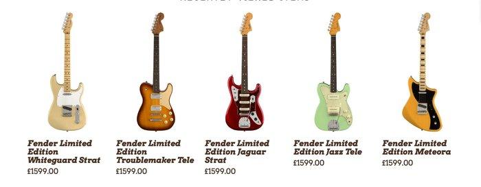 Fender Limited Edition 2018 models leaked
