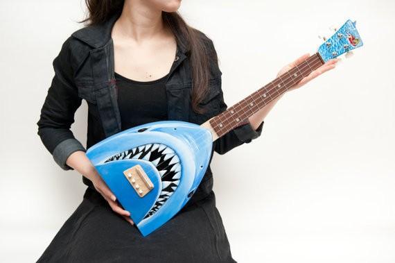 jaws shark attack ukulele 1