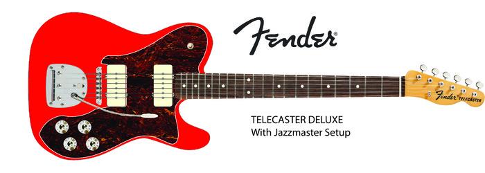 Fender Telecaster Dlx jazzmaster setup