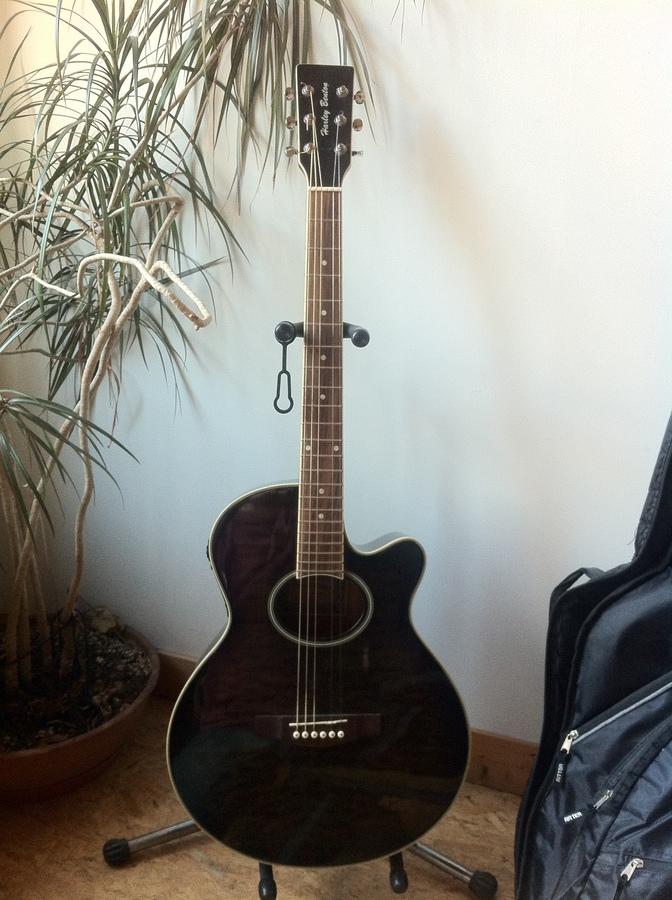 harley benton hbx5t bk guitare electro acoustique. Black Bedroom Furniture Sets. Home Design Ideas