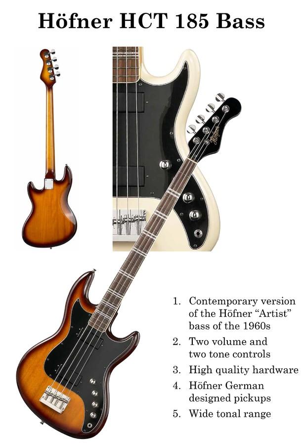 Hofner Guitars 185 Bass Guitar - sunburst (HCT-185-SB) (21723)