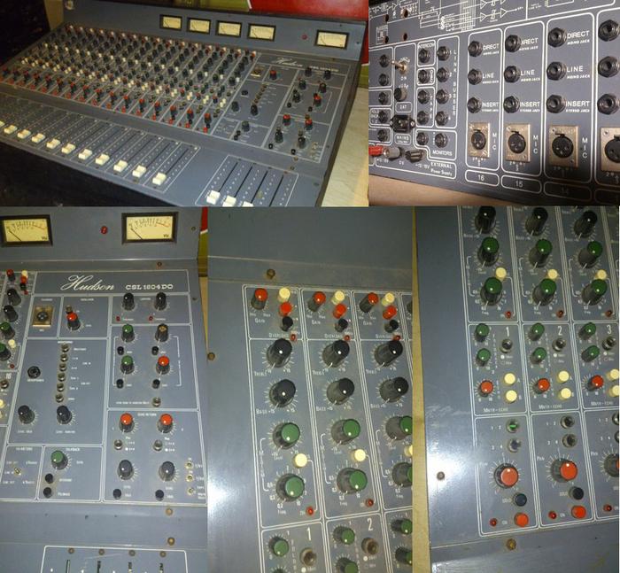 Table de mixage pro analogique hudson csl 1604 do console analogique vintage de 1974 ile de - Console analogique occasion ...