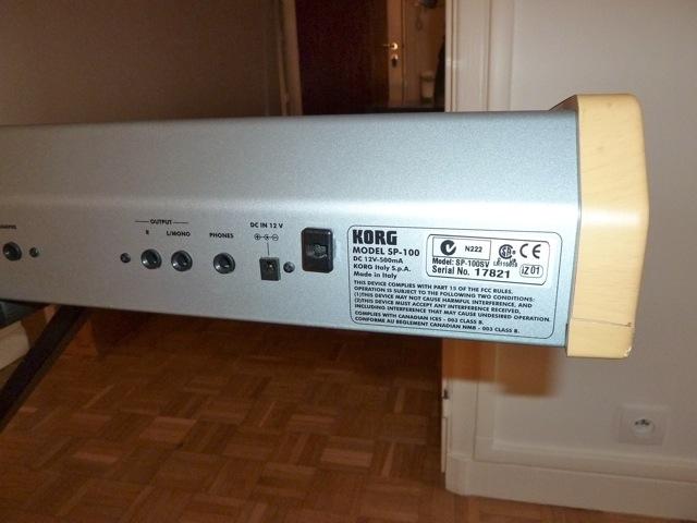 korg sp 100 image 279944 audiofanzine. Black Bedroom Furniture Sets. Home Design Ideas