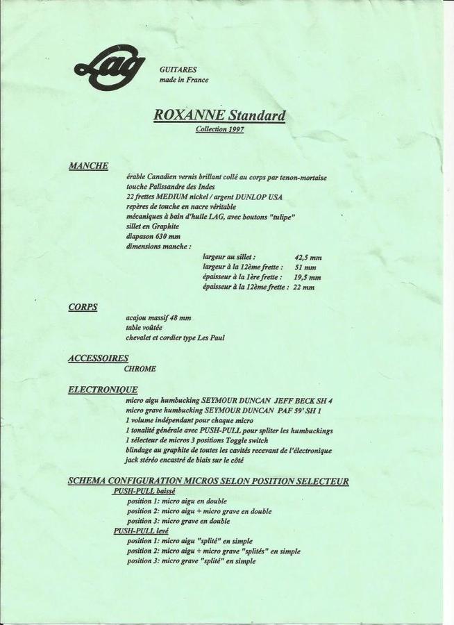 LAG Roxanne specs