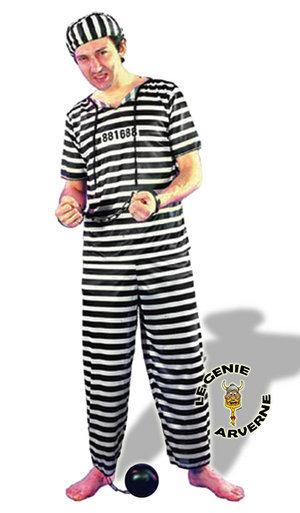 normal costume raye de prisonnier bagnard bandit tueur malfrat sous les verrous derriere les barreaux dalton