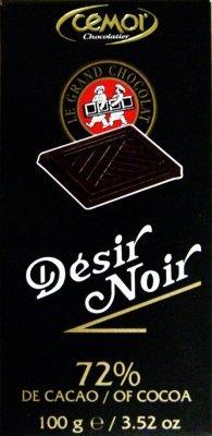 chocolate cemor desir noir 72