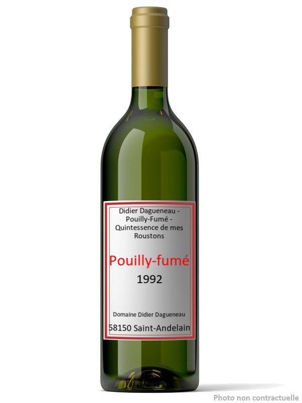 etiquette didier dagueneau pouilly fume quintessence de mes roustons 1992 197020 0