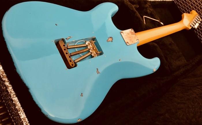 Fender 50s daphne blue Relic Defter pups   25