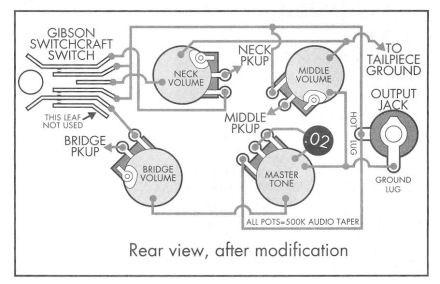 les paul 3pu mod schematic