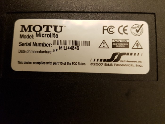 MOTU Micro Lite (50575)