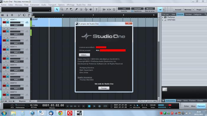 PreSonus Studio One 2 Professional Anonymous  images