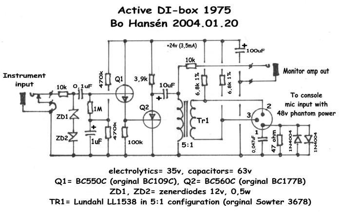 Active DI box 1975