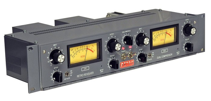 retro instruments revolver dual channel tube compressor 7fb