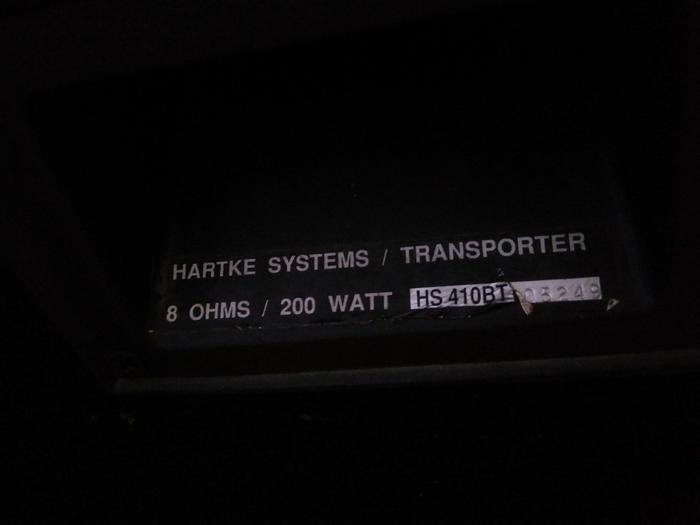 Baffle Hartke HS 410BT transporter ref