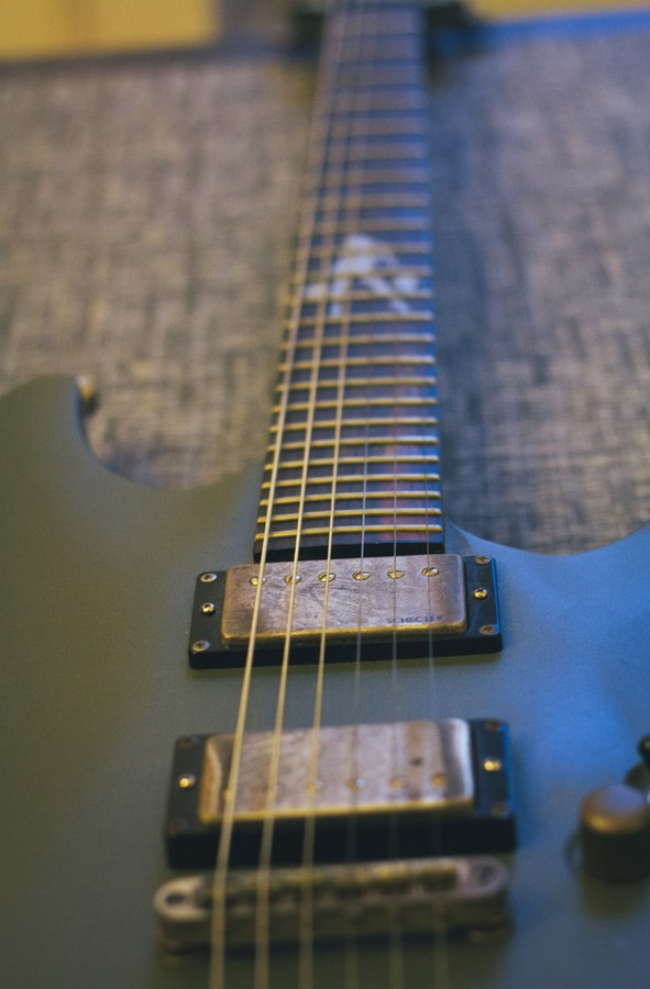guitare schecterclose up