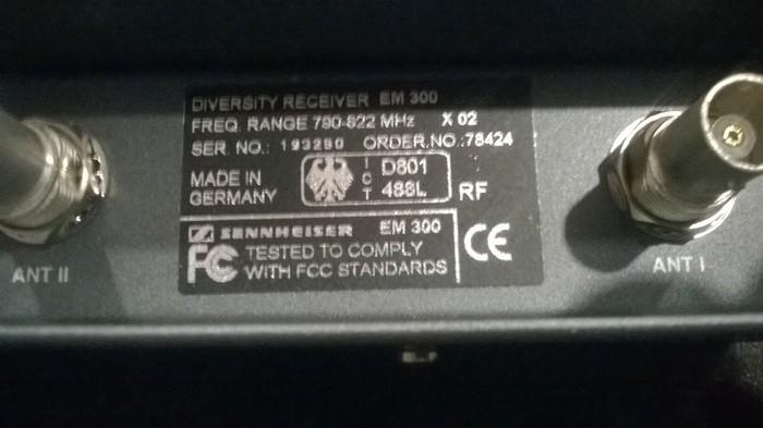 Sennheiser Sennheiser ew300. Micro HF main* (62727)