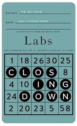 Labs Closing Down