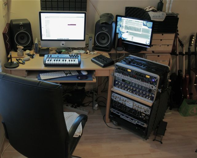 home studio en place