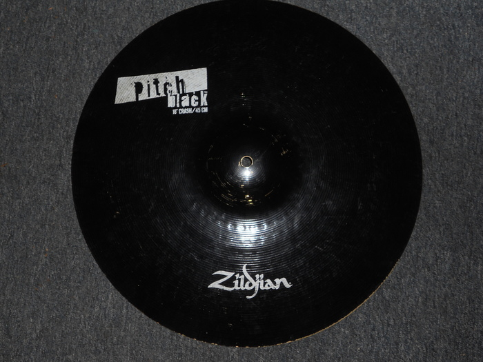 Zildjian Pitch Black Cymbals Zildjian Pitch Black Crash 18